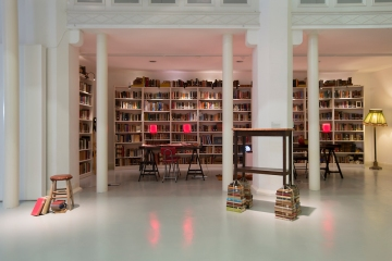 FOREGROUND OF LIBRARY: 'Elsies Counter' Jessica Foley (2013)